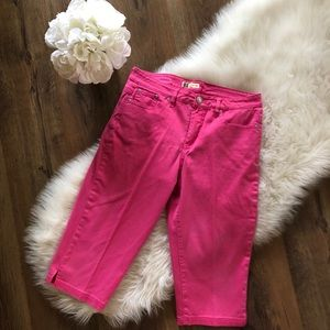 Faded Glory Stretch Pink Missy Capris